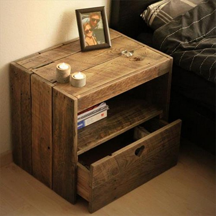 DIY Pallet Wood Side Table Plans | Pallet Wood Projects