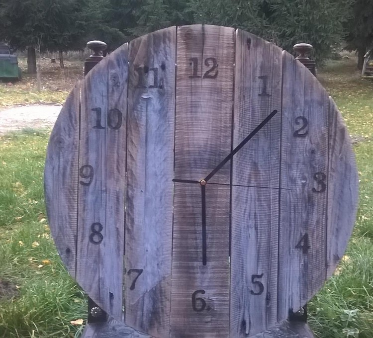 Reclaimed Wood Pallet Wall Clock Plans Pallet Wood Projects