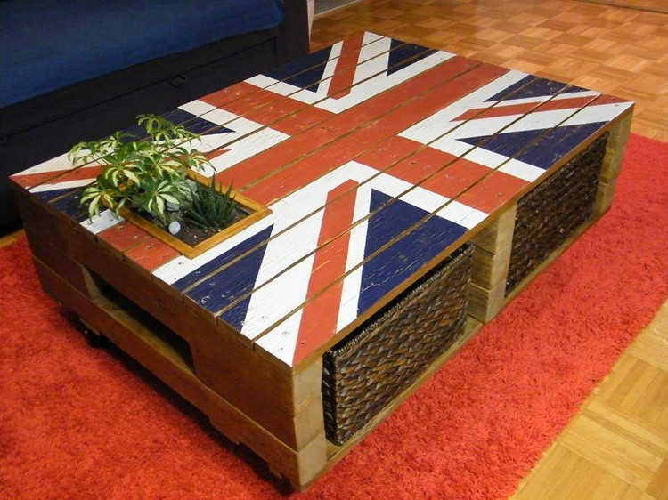 Pallet United Flag Coffee Table