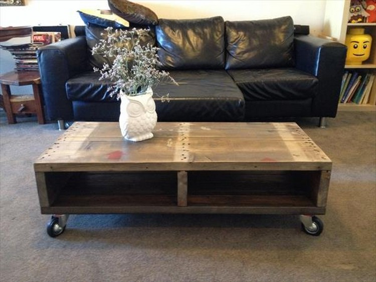 Modern Coffee Tables Made From Wooden Pallet Wood