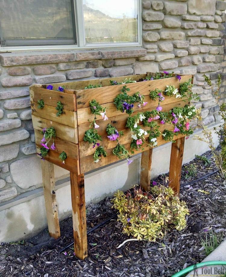 Pallet Flowers Planter