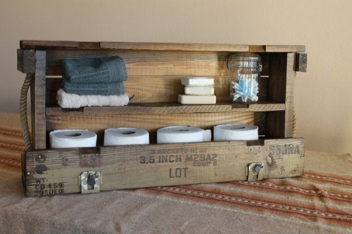 Pallet Rack for Bathroom
