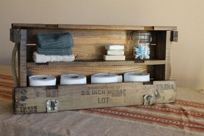 Pallet Rack for Bathroom