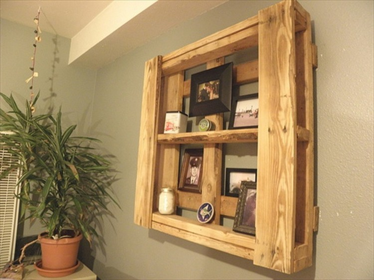 Pallet Shelves for Wall Decor