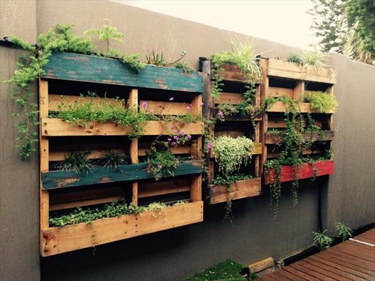 Pallet Verticle Planter