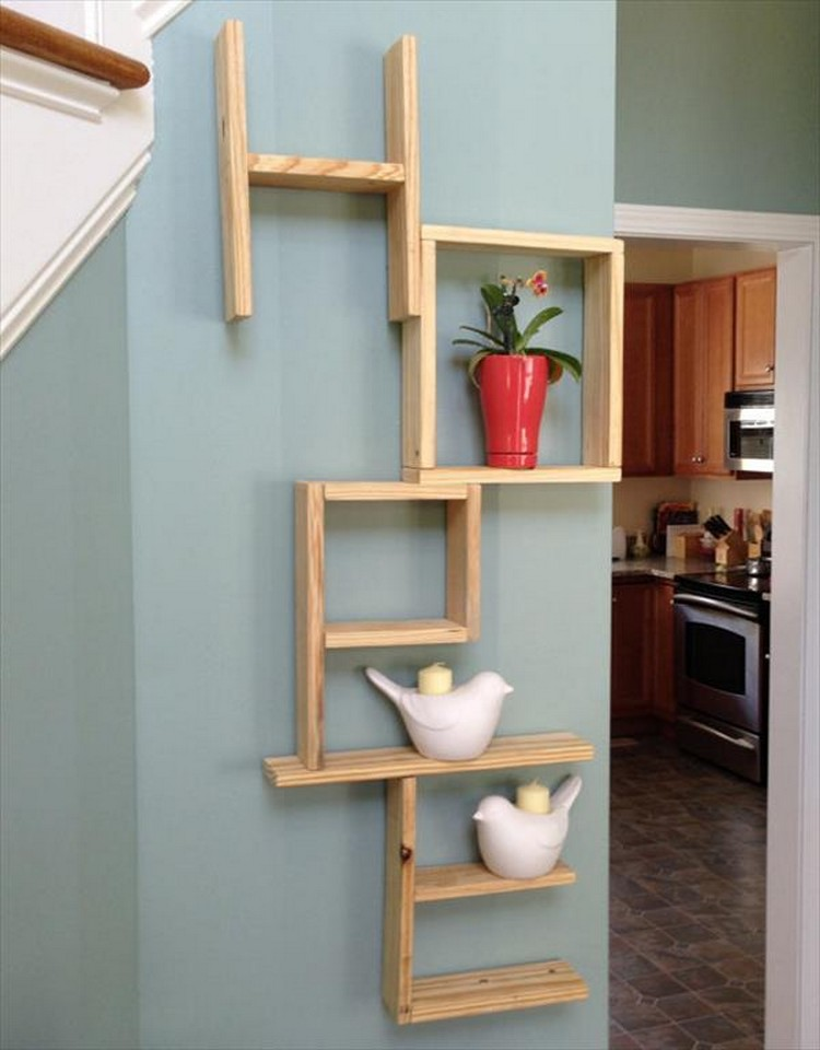 Pallet Wall Decor Shelves