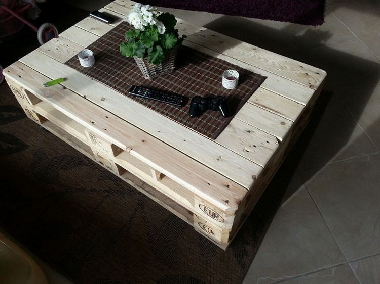 Pallet Wooden Coffee Table with Storage