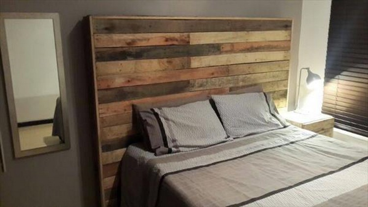 Recycled Pallet Headboard