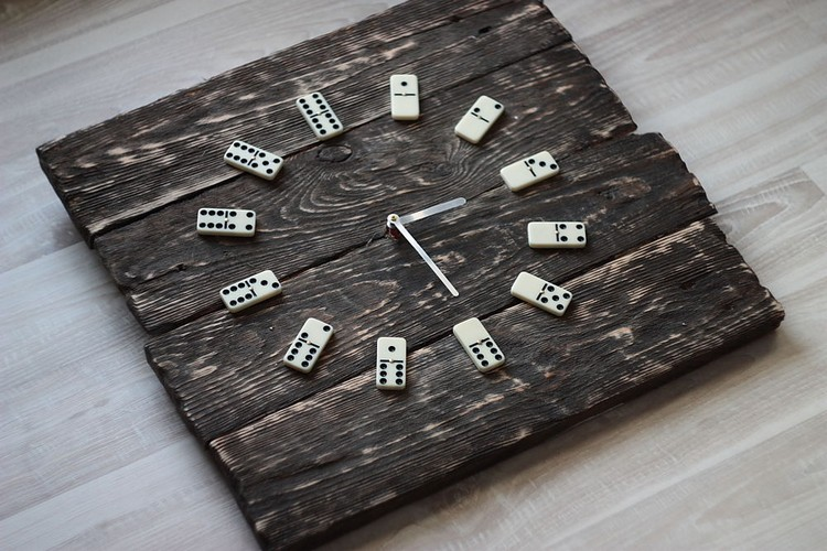 Recycled Pallet Wall Clock