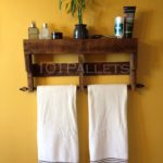 Upcycled Pallet Towel Rack
