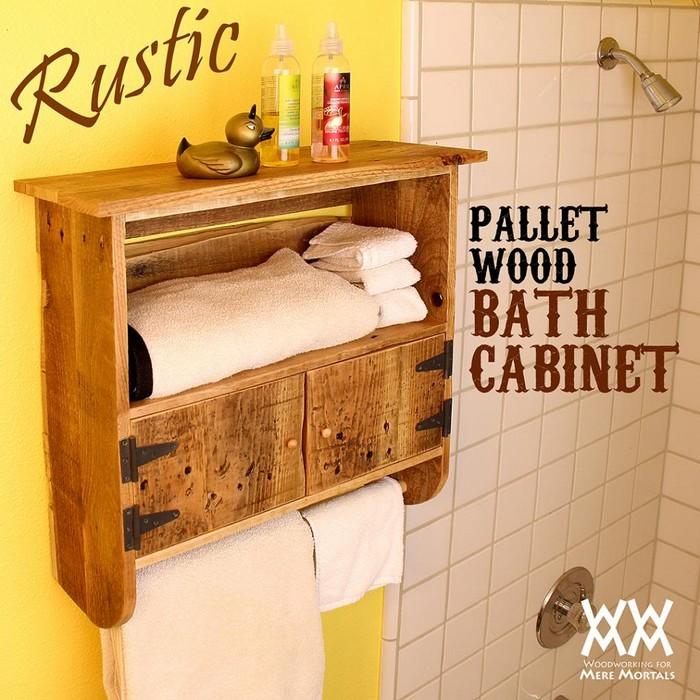 Wood Pallet Bathroom Cabinet