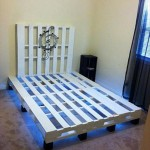 Wooden Pallet Bed with Lights