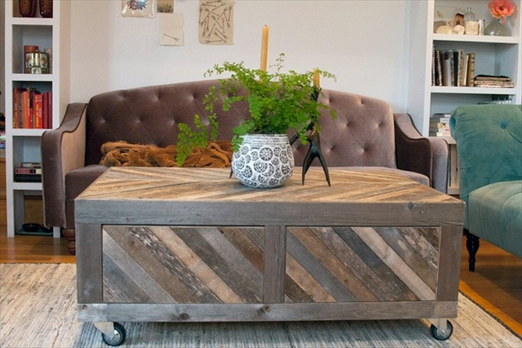 Modern Coffee Tables Made From Wooden Pallet Pallet Wood Projects