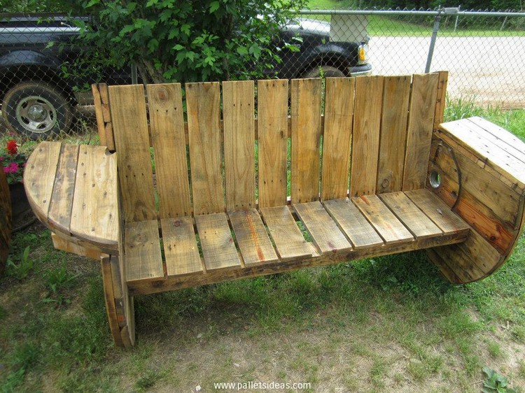 Wooden Pallet Sitting Bench Plans | Pallet Wood Projects