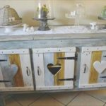 DIY Painted Pallet Kitchen Cabinet and Sideboard