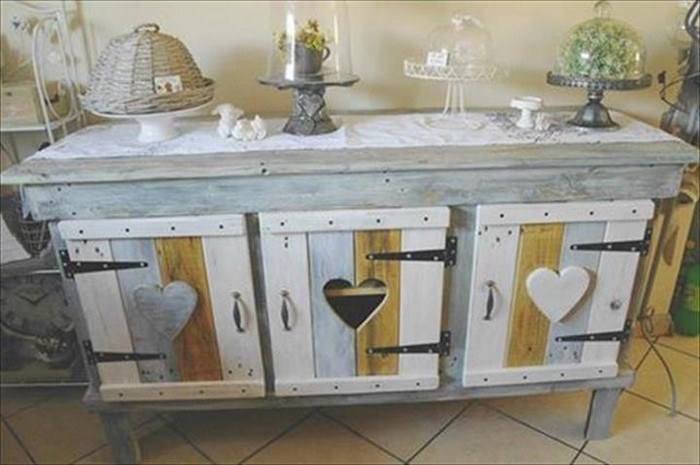 Kitchen cabinets made from pallets pallet wood projects - Cupboards made from pallets ...