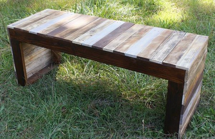 outdoor pallet wood. Cable Reel Pallet Bench DIY Outdoor Wood