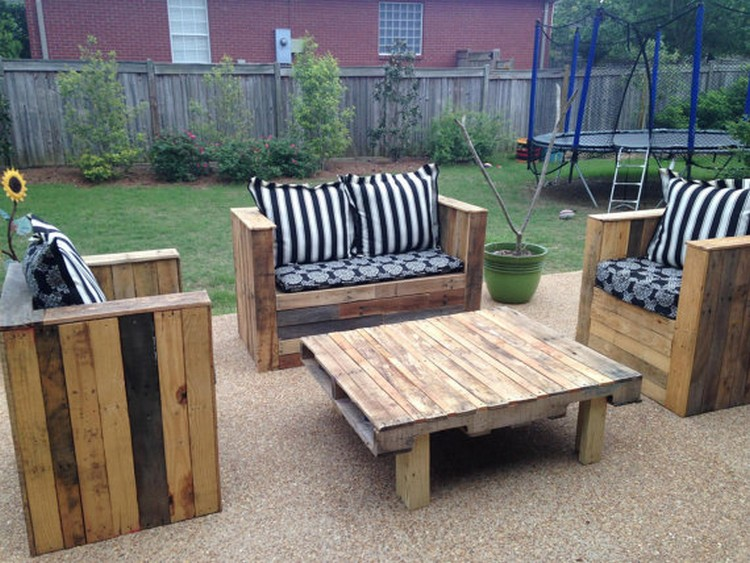 Garden Furniture From Wooden Pallets diy wooden outdoor furniture - creditrestore