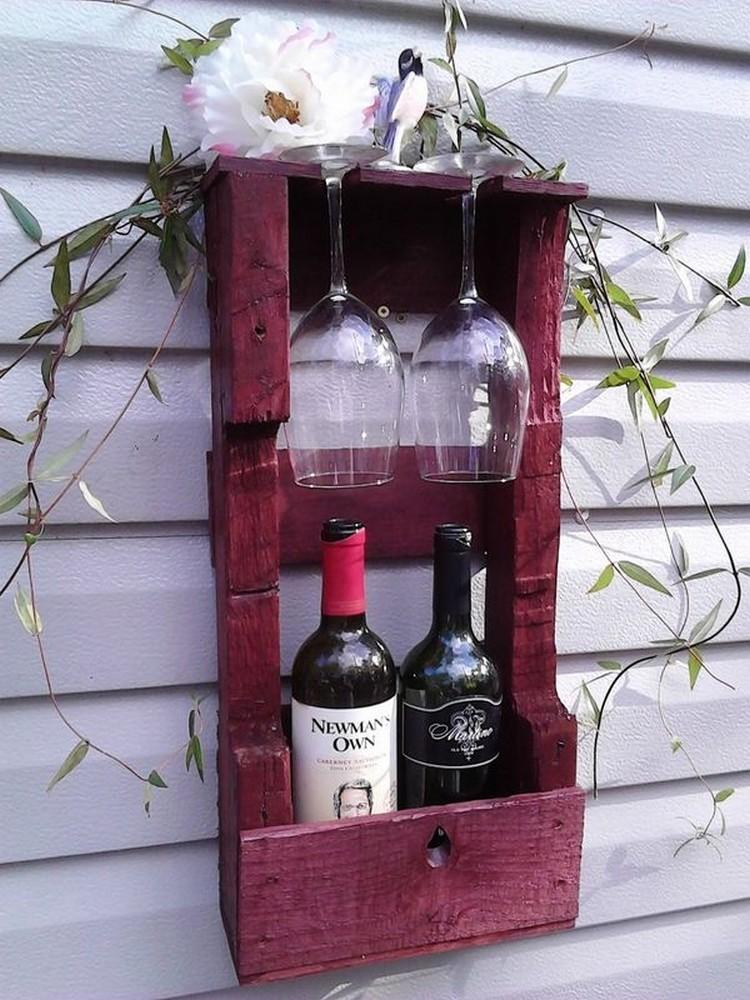 Pallet 2 Bottles Wine Rack