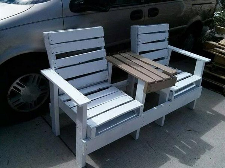 Pallet Adirondack Combined Chairs