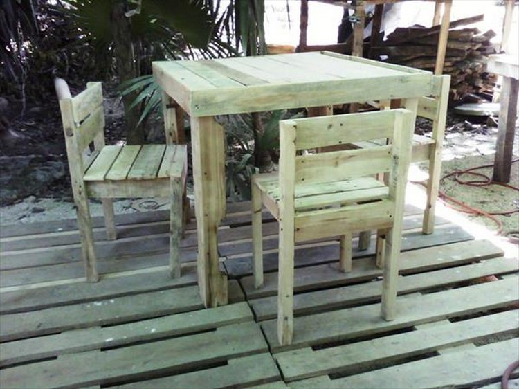 Pallet Deck and Dinning Furniture