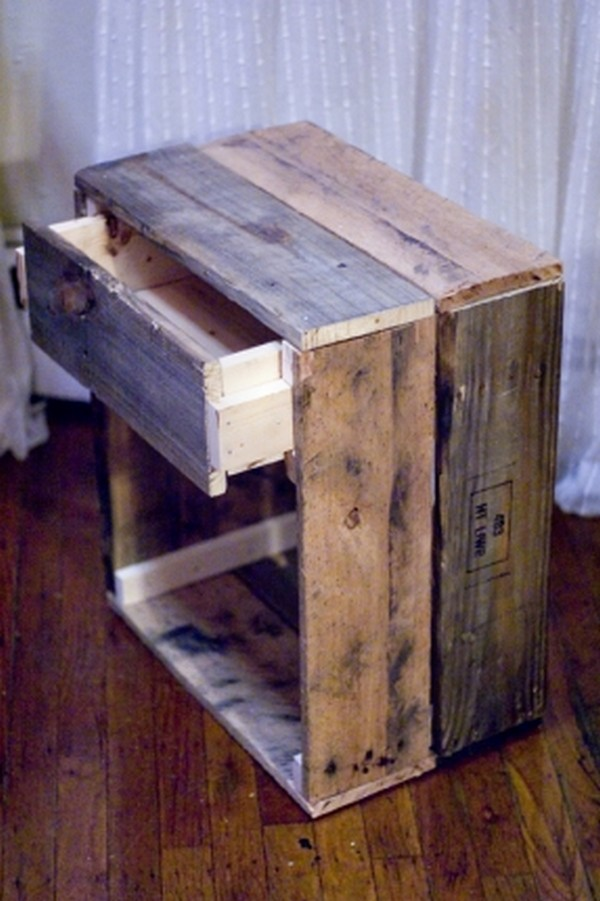 Diy pallet end table plans pallet wood projects Homemade wooden furniture