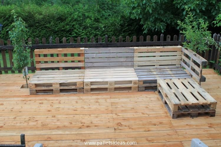 Diy pallet garden furniture plans pallet wood projects for Pallet furniture designs
