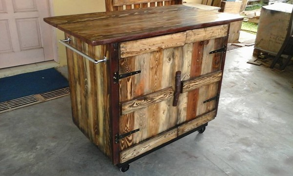 Pallet Kitchen Island Plans