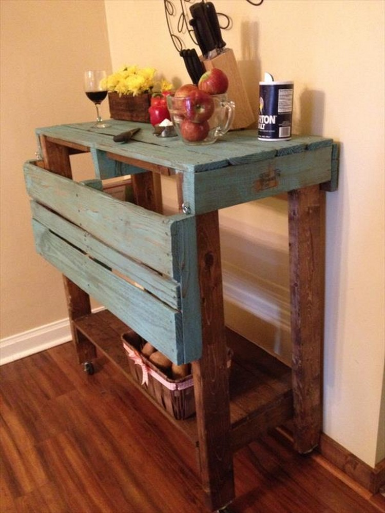 Pallet Projects For Kitchen Wood