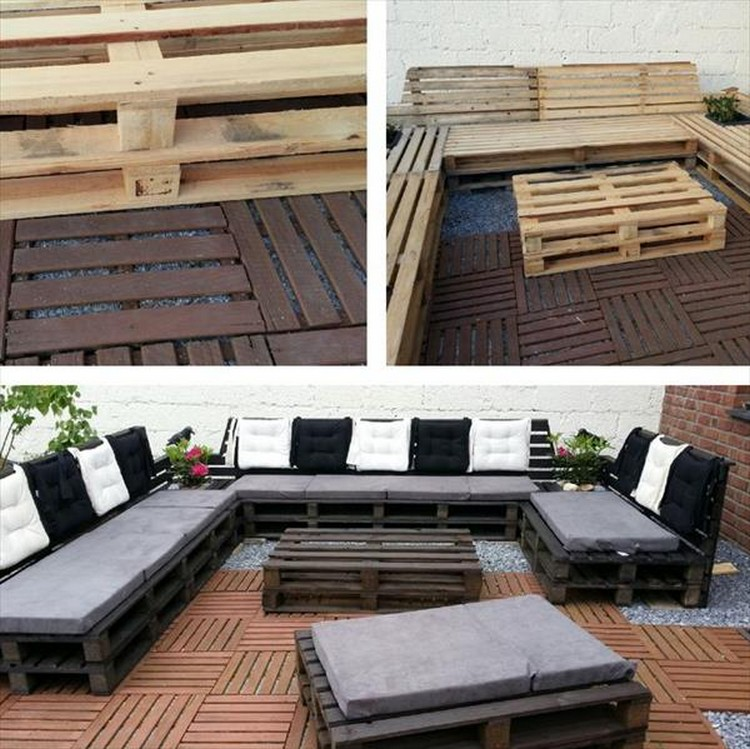 Diy pallet outdoor sofa plans pallet wood projects for Sofa de palets exterior