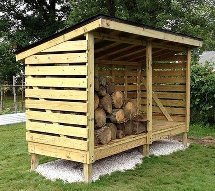 Diy wooden pallet shed projects pallet wood projects for Wood shed plans