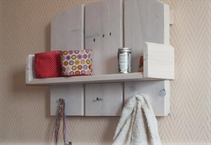 Pallet Shelf and Towel Rack
