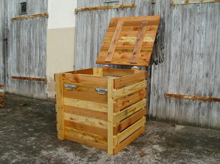 Pallet Storage Box | Pallet Wood Projects
