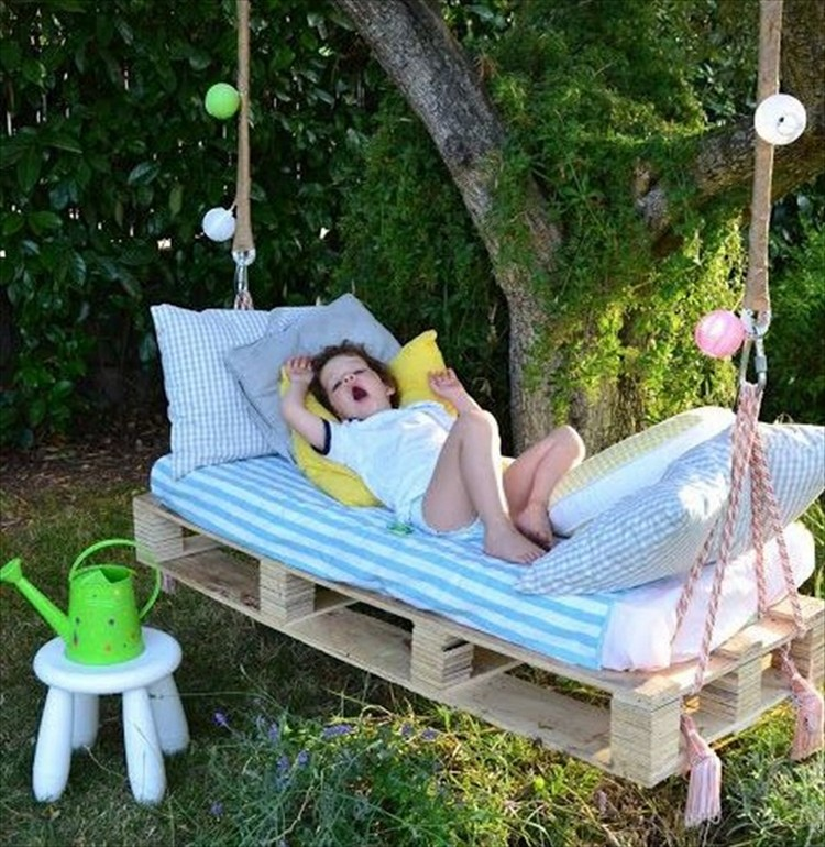 Pallet Swing Bed for Kids