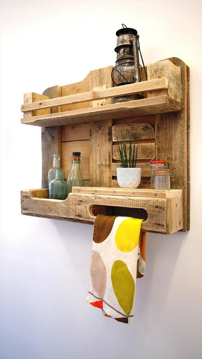 Pallet Towel Rack For Bathroom Pallet Wood Projects