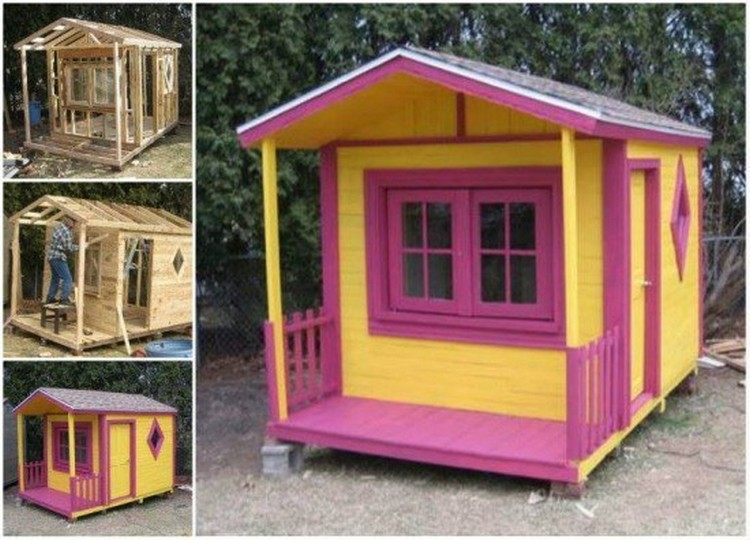 Pallet Wood Kids Playhouse