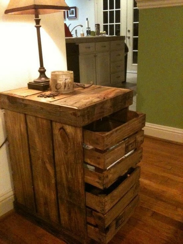 DIY Pallet End Table Plans Wood Projects
