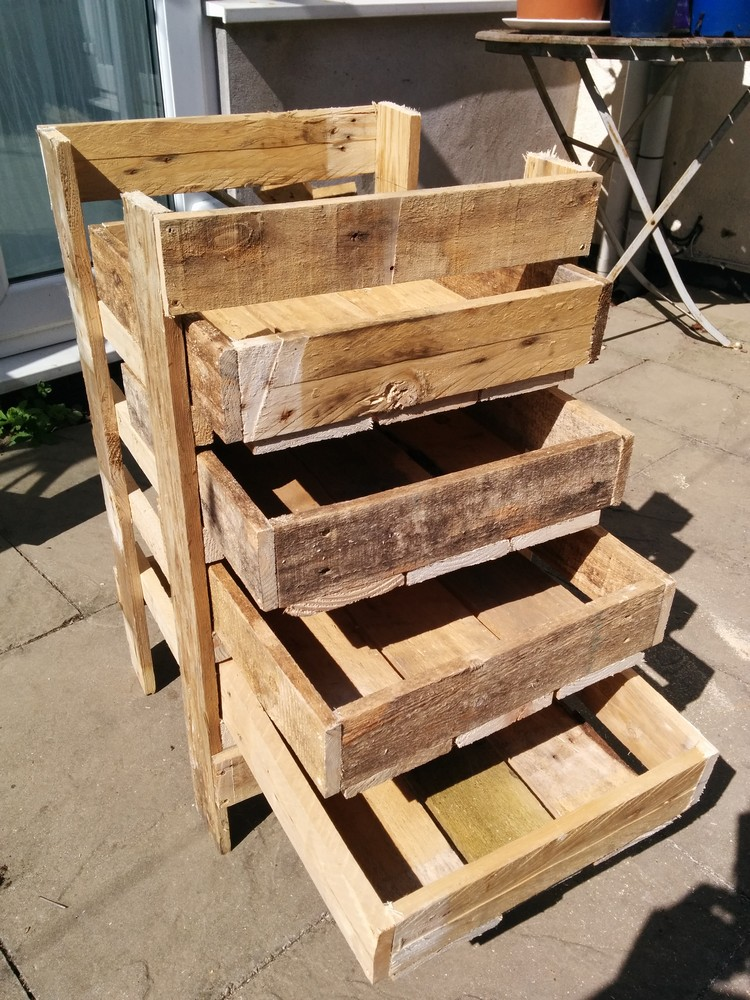Diy wooden pallet storage box plans pallet wood projects for Pallet ideas