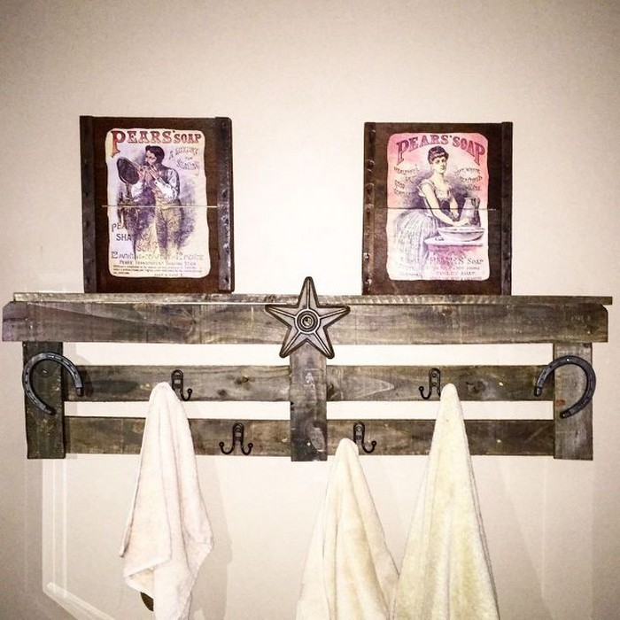 Pallet Towel Rack For Bathroom Wood Projects