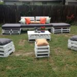 White Pallet Garden Furniture