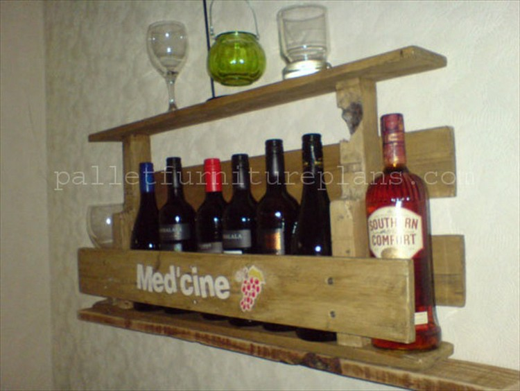 Woodworking Wine Rack ~ Wooden pallet wine rack plans wood projects