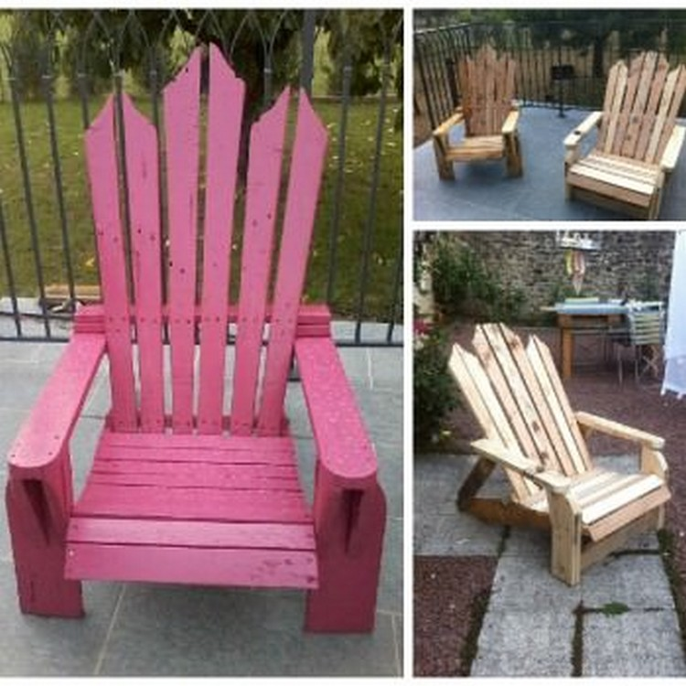 Wooden Pallet Adirondack Chair