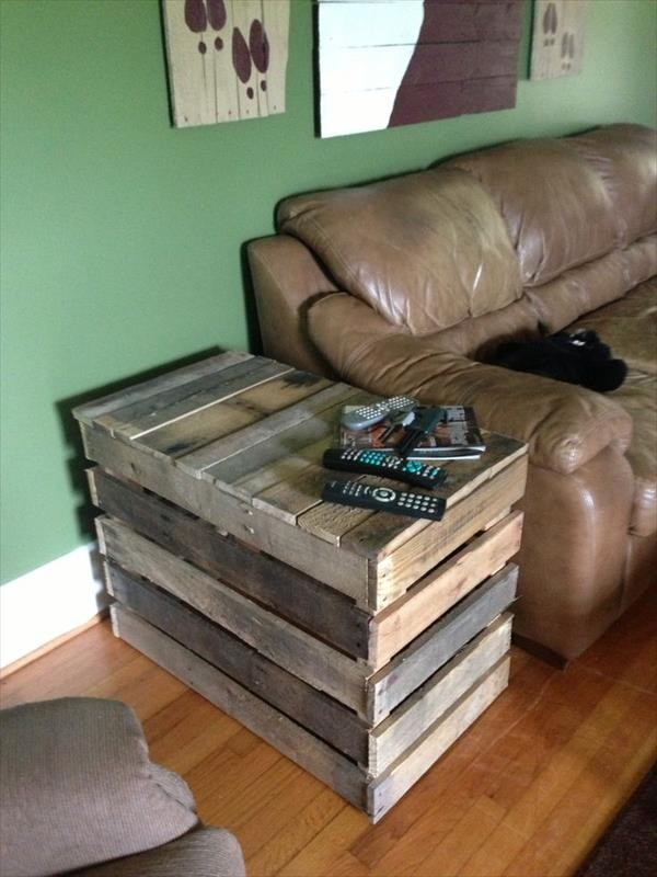 DIY Pallet End Table Plans | Pallet Wood Projects