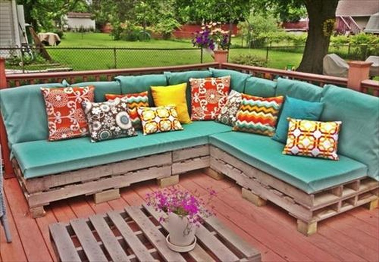 Tavolini Con Bancali : Diy pallet outdoor sofa plans wood projects