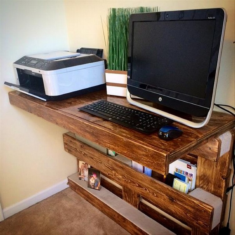 Diy Wooden Desk ~ Pallet computer desks wood projects