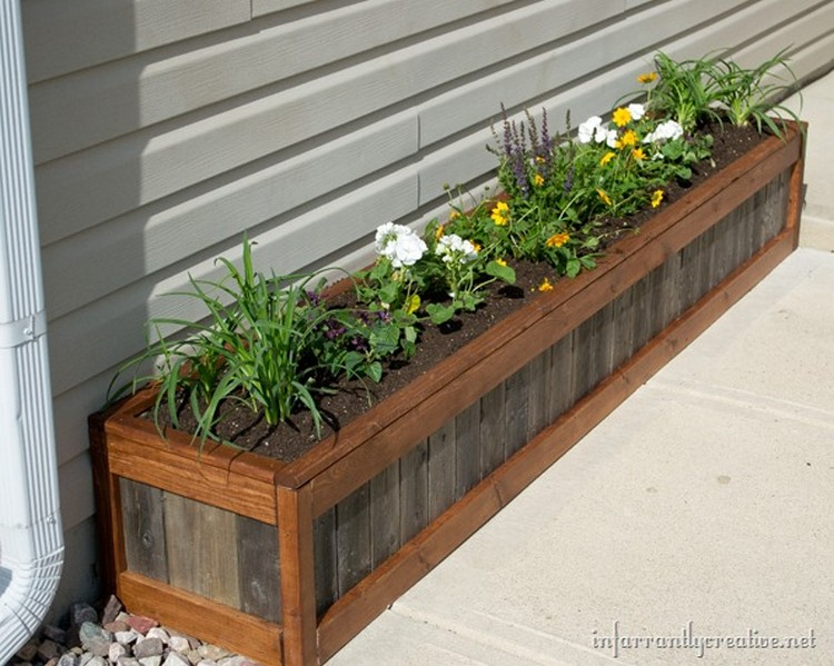 planter boxes made from wooden pallets pallet wood projects. Black Bedroom Furniture Sets. Home Design Ideas