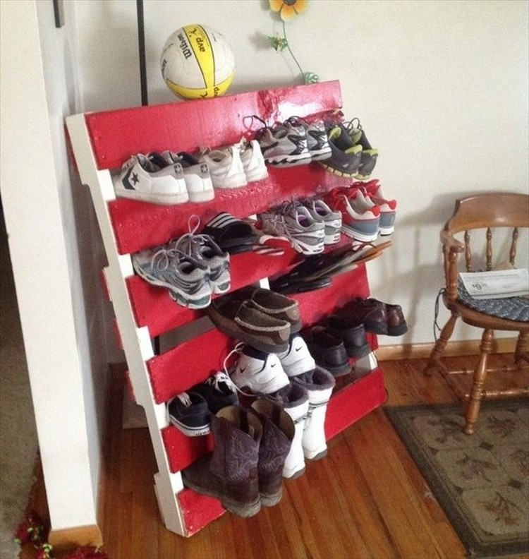Recycled Pallet Shoe Racks Pallet Wood Projects