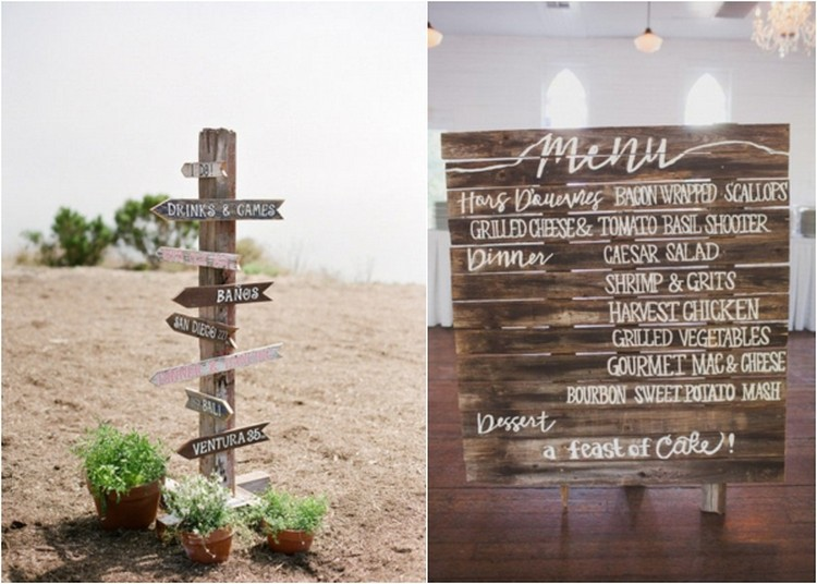 DIY Pallet Wedding Signs