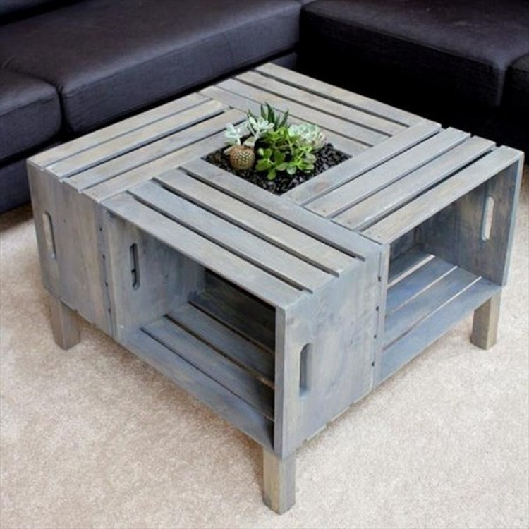 Amazing 11 Amazing Recycled Pallet Tables With Planters Pallet Wood Projects .