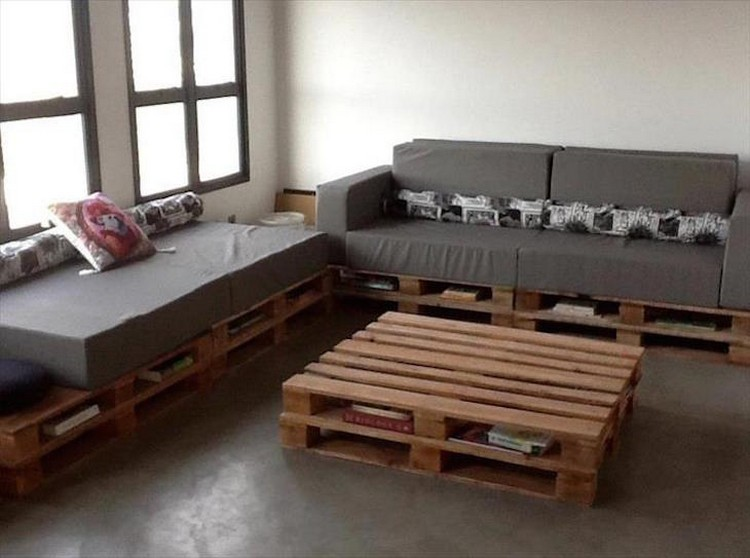 Pallet corner sofa plans pallet wood projects for Sofa table made from pallets